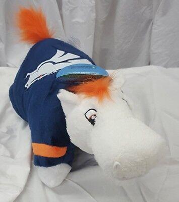 Denver Broncos Large 18 Mascot Pillow