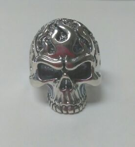 Flame-Skull-Ring-Sterling-Silver-SZ-13