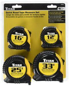 Titan 10902 Tape Measure Set 4 Piece