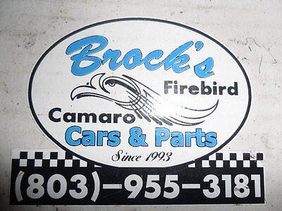 Brock's Camaro and Firebird Parts
