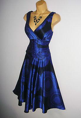 STUNNING BNWT MONSOON DRESS SIZE 12 YASUKO ORIANE SILK MIX DRESS IN COBALT