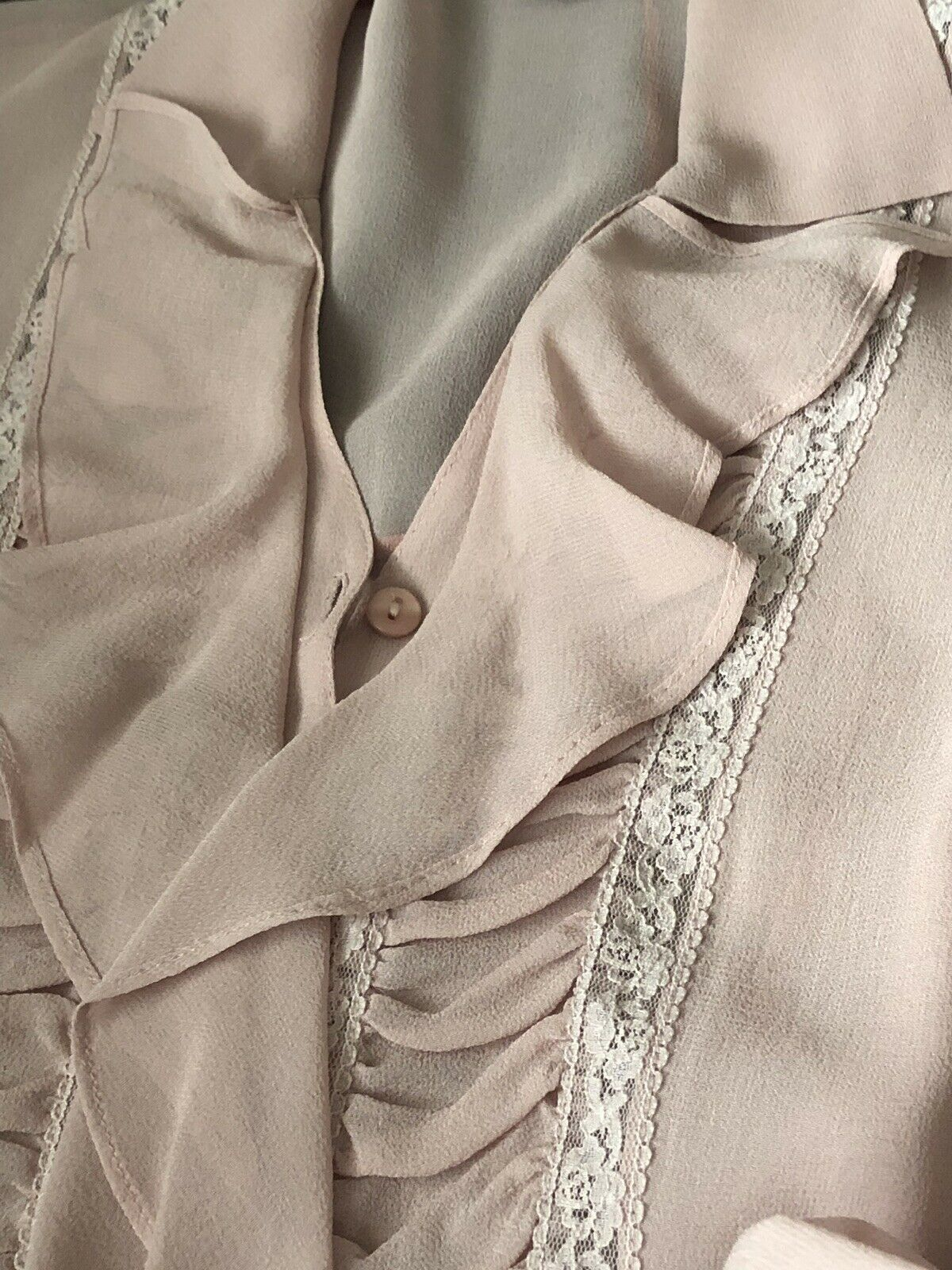 Vintage Stunning Jones Wear Silk Sheer Dusty Lila… - image 10