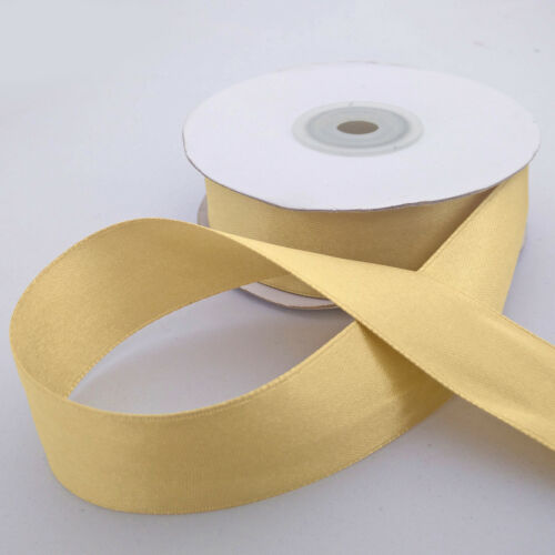 Antique Gold double faced satin ribbon 3mm 10mm 16mm 25mm 38mm width