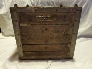 Bordens-Milk-Erie-Crate-4-65-Wood-Metal-Engraved-Heavy-Vtg-Decor-Storage