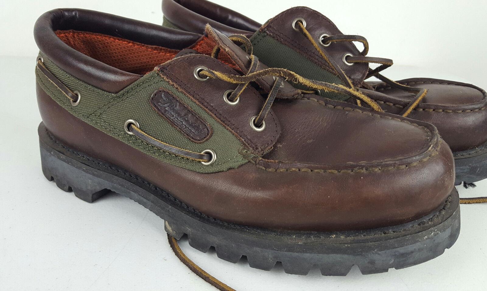 Raybestos Heavy Duty Work Shoe Brown Green Goodyear Welt Men's 9.5 RPP2000