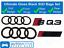 Audi-SQ3-Gloss-Black-Badge-Calandre-amp-Boot-rear-badge-embleme-Set-Anneaux miniature 1