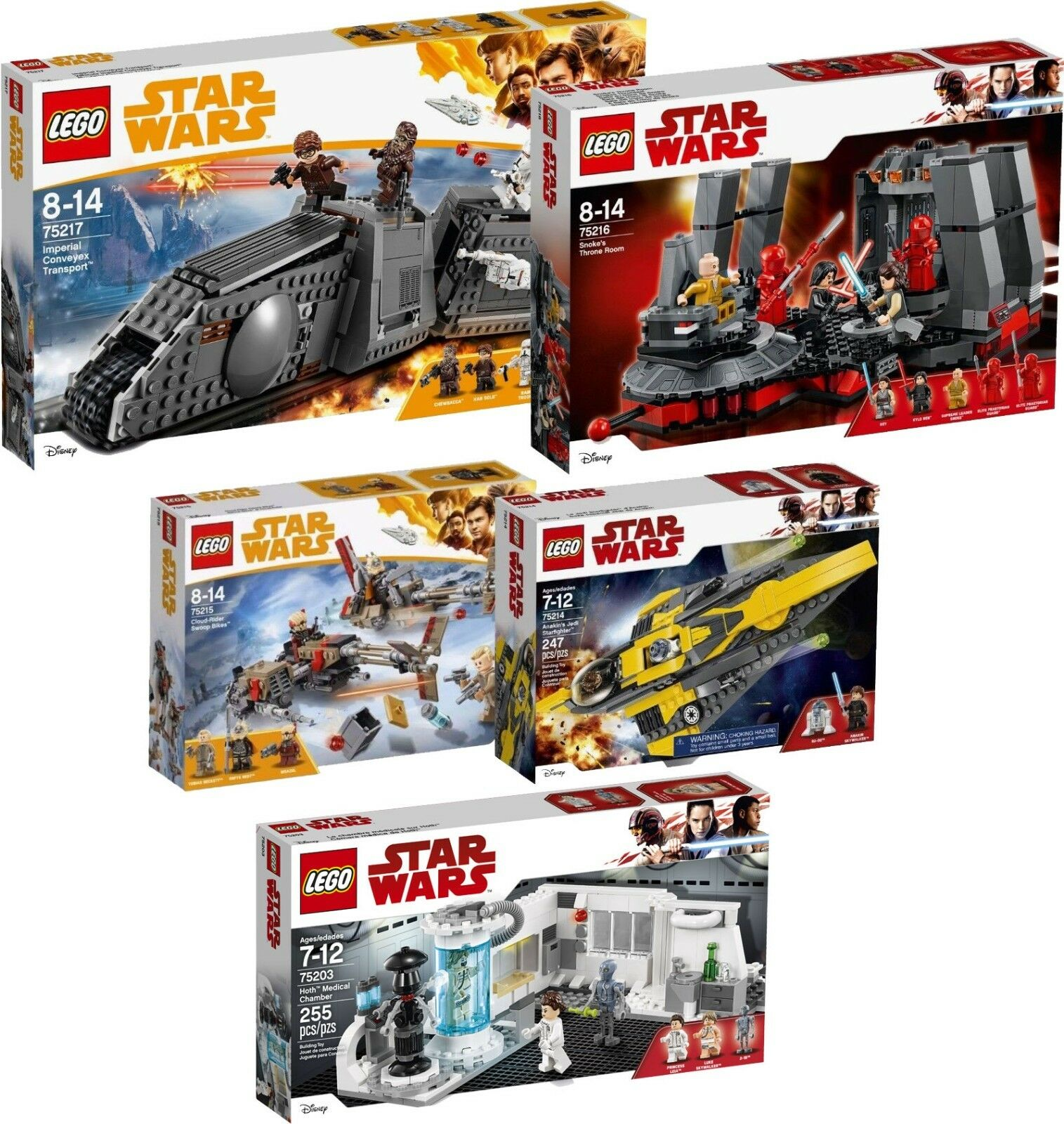 LEGO Star Wars 75217 75216 75215 75214 75203 Imperial conveyex n8/18