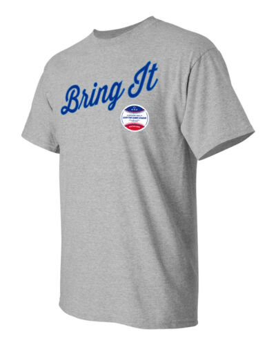 "/""Bring It/"" LOVE THE GAME LEAGUE Baseball Lingo Tee"