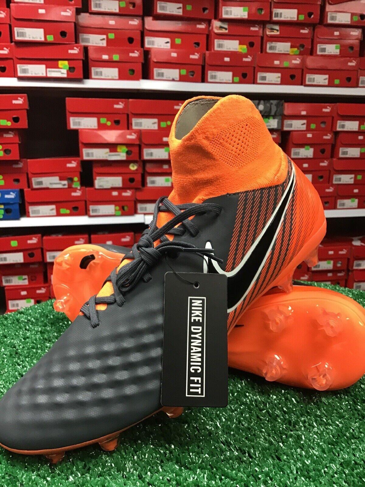 New Nike Obra 2 PRO DF FG Soccer Cleat grau   Orange Größe 11 New In Box