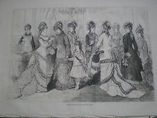 Paris Fashions for the New Year 1877 print ref W3