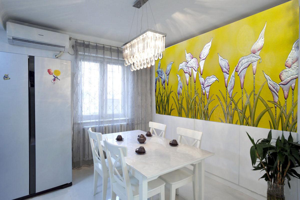 Papel Pintado Mural De Vellón Flor Estilo De Alivio 21 Paisaje Fondo De Pansize