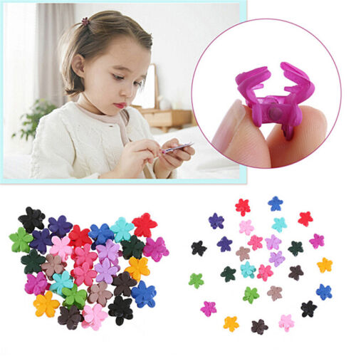 30X Mix Colored Girl Kids Baby Mini Flower Hair Claw Jaw Clip Hair Accessory VP