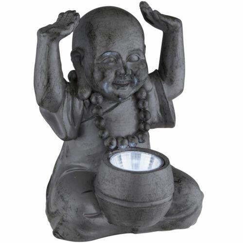 Design LED Lampada Esterna Solare Buddha scultura veranda personaggio Asia illuminazione