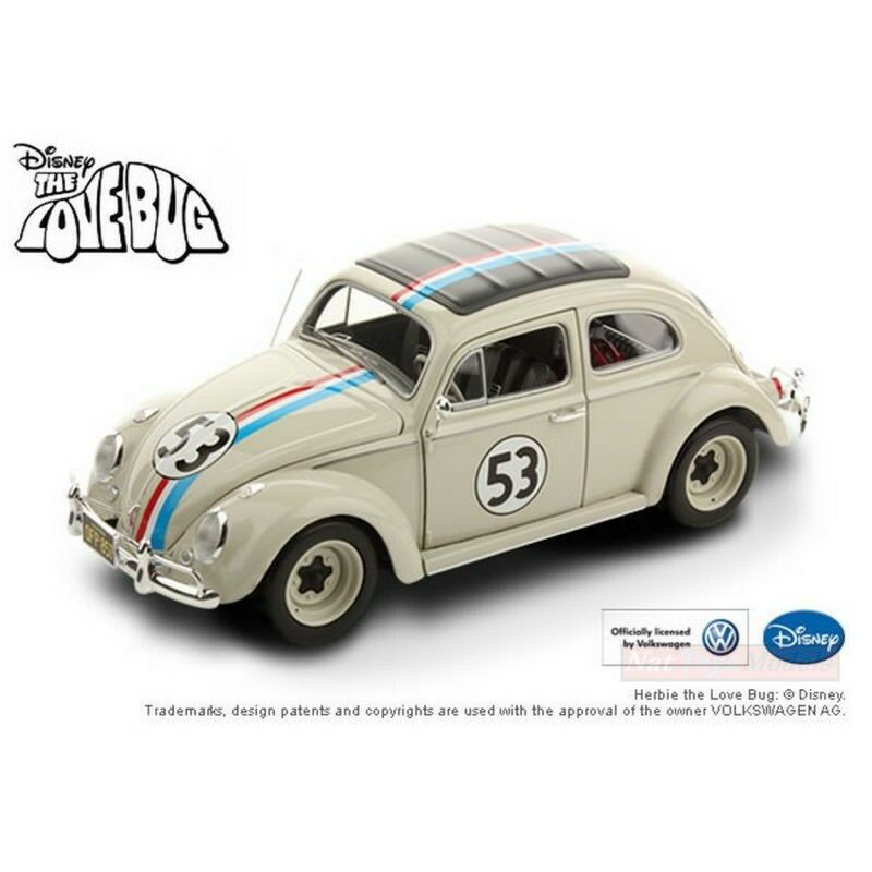 HOT WHEELS HWBCJ94 HERBIE IL MAGGIOLINO TUTTO MATTO THE LOVE BUG N.53 1963 1:18