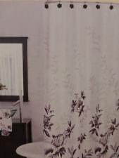 "Lenox Moonlight Garden Black & White Fabric Shower Curtain 72"" x 72"" NIP"