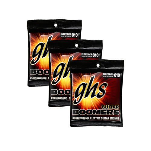 3-Pack GHS Strings GBZW Boomers Heavy Electric Guitar Strings 10-60