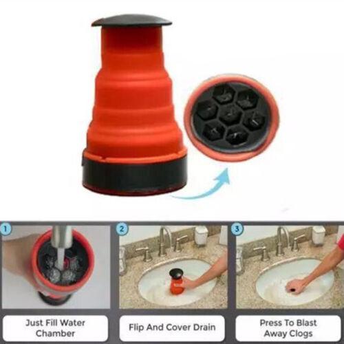 Rubber Sink Plunger Drain Unblocker Air Pump Shower Pipe Unblock Clog Remove HB
