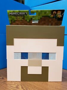 Details About New Minecraft Steve Mob Mask Face Head Costume Cosplay Toy Collectible Mojang