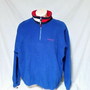 Details about VTG Tommy Hilfiger Fleece Jacket NWT Colorblock Pullover 90s Spell Out XXL 2XL