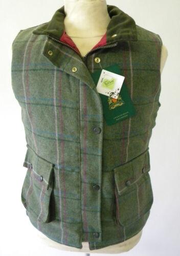 tejidas 16 8 10 12 rosa inglesas 14 verde Chaleco Nuevas Tweed y mujeres AxpaO