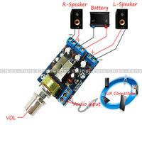New TEA2025B 2.0 Stereo Dual Channel 3W+3W Audio Amplifier Board 5V 9V 12V CAR