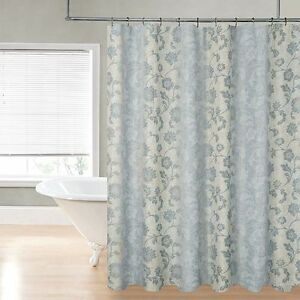 Regal Bath Collections Noelle Fabric Shower Curtain 70x72 Blue New 242 Ebay