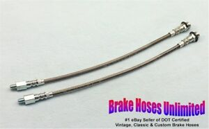 STAINLESS-FRONT-BRAKE-HOSES-Mercury-Comet-1960-1961-1962-1963-1964
