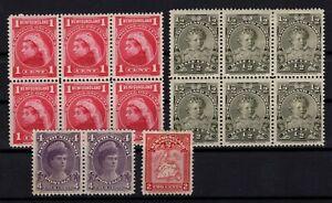 P131822-NEWFOUNDLAND-CANADIAN-PROV-LOT-1897-1908-MH-CV-200