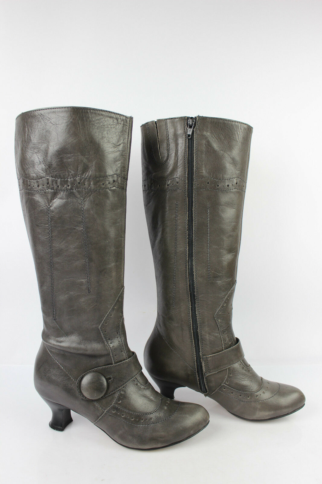Boots EMERGENCE Leather Grey taupe T 36 VERY GOOD CONDITION
