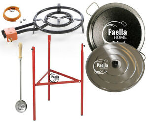 couvercle Acier Inoxydable Cuillère 35 cm brûleur à gaz 42 cm Original Paella Pan Set