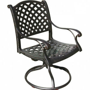 Outdoor swivel rocker cast aluminum patio seat