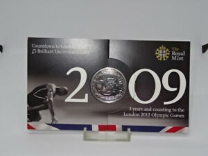 Royal Mint 2009 Countdown to London Olympic £5 Brilliant Uncirculated