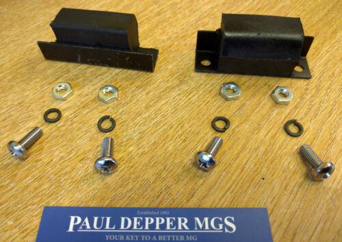 Mg MGB Capot Buffers avec chrome /& kit de montage vis paire ahh6523k