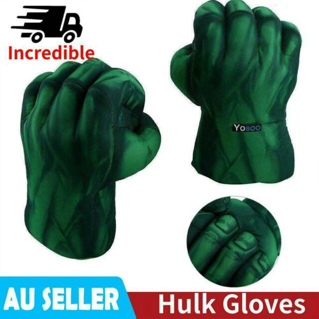 2X Incredible Cosplay Hulk Gloves Smash Hands Boxing Fists Punching Toys / Gifts