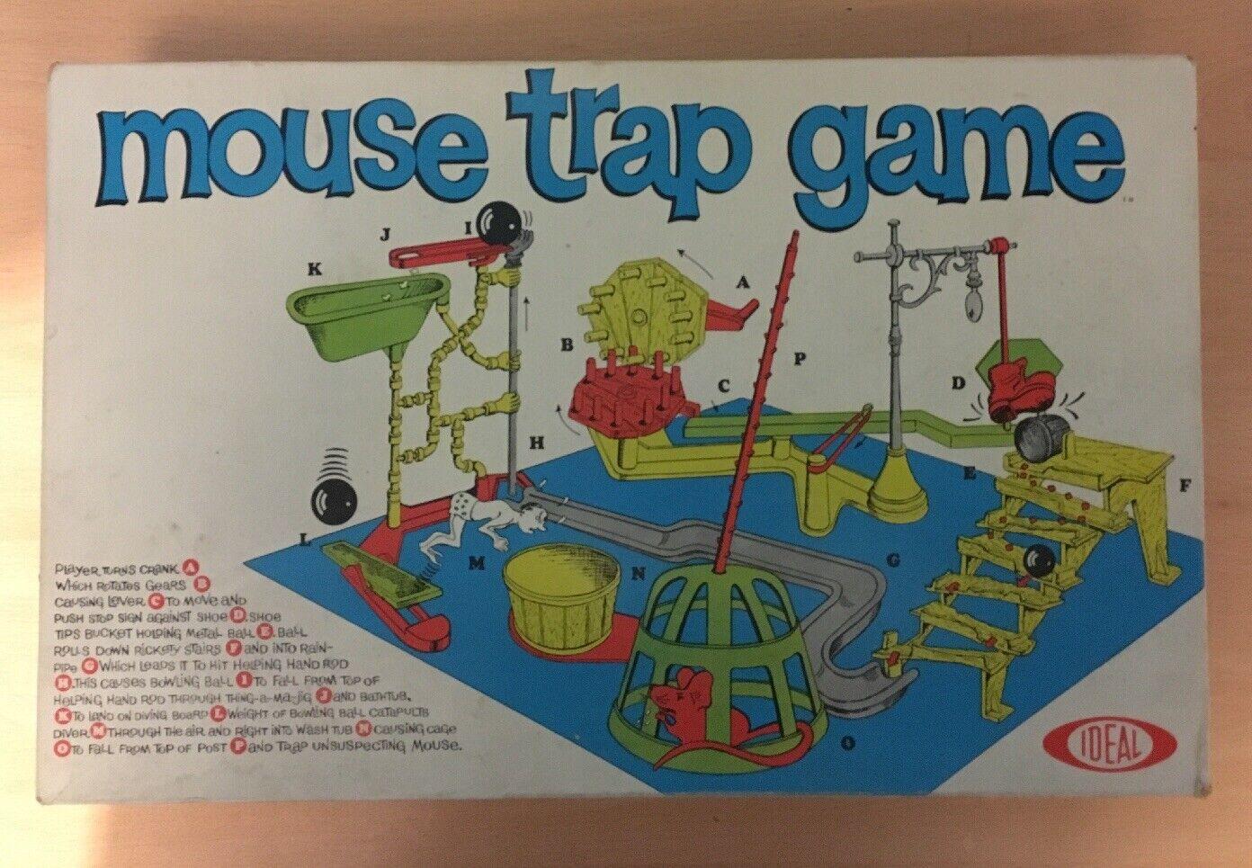 VINTAGE Gioco da  tavolo Trappola per topi ideale in scatola 1963 100% completo in buonissima condizione   Garanzia di vestibilità al 100%