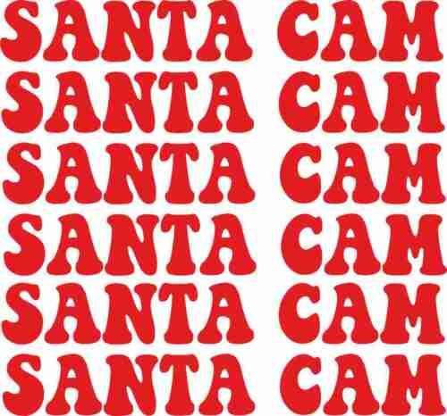6 x Santa Noël Cam autocollants boules de verre de Noël Enfants Cadeau De Nouveauté