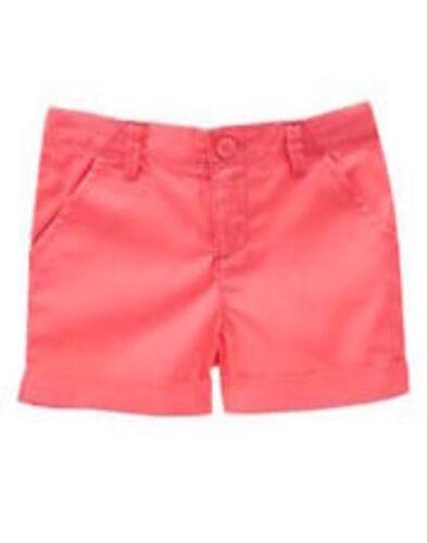 NWT Gymboree Girls Island Cruise Cuffed Neon Pink Shorts Size 4 6