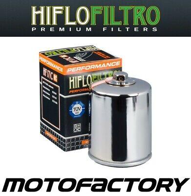 HIFLO RACING CHROME OIL FILTER FITS HARLEY DAVIDSON FXBRS ...