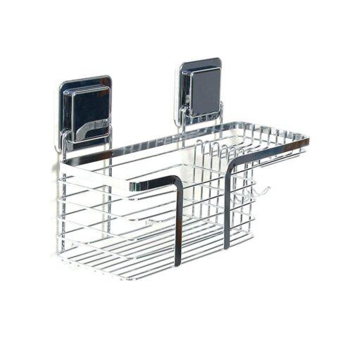 Stainless Steel Bath Shampoo Holder Shower Basket Shelves With Soap Dishes Hooks