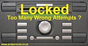 ford radio code decode unlock service lock locked 10 11. Black Bedroom Furniture Sets. Home Design Ideas