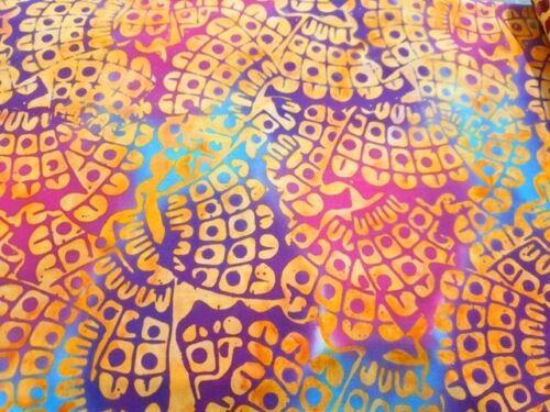 Tela de batik algodón acolcha Costura Metro//Cuarto Gordo naranja aztecas