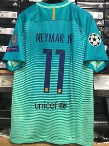 nike fc barcelona third jersey mint green 16 17 neymar jr 11 size xl mans only ebay details about nike fc barcelona third jersey mint green 16 17 neymar jr 11 size xl mans only