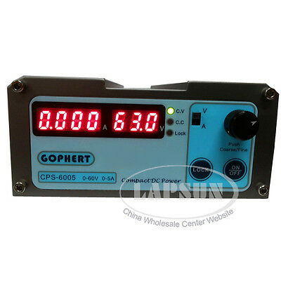 DC 60V 5A Precision Compact Adjustable Digital Switching Power Supply 110-220V
