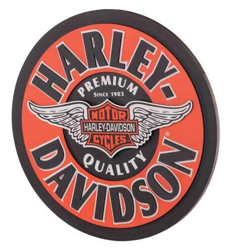 Harley-Davidson Winged Bar /& Shield Dimensional Pub Sign Orange HDL-15320