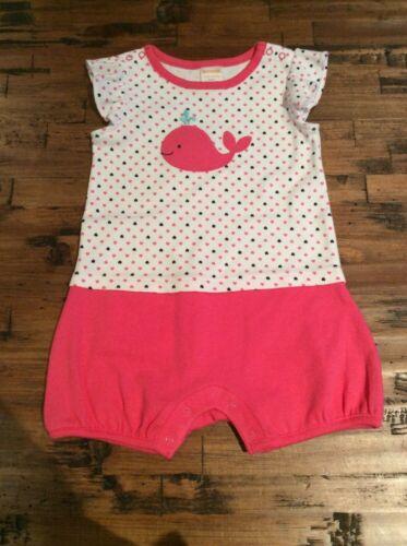NWT Gymboree Baby Girls Newborn Essentials Pink Whale Romper Outfit Newborn 0 M