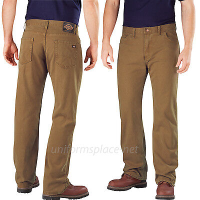 Dickies Jeans Mens Relaxed Straight Fit Bull Denim Jean Work Pants DD211 Cotton