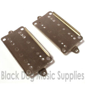 base plates in brass or nickel 50//52mm poles square lugs Humbucker pickup back