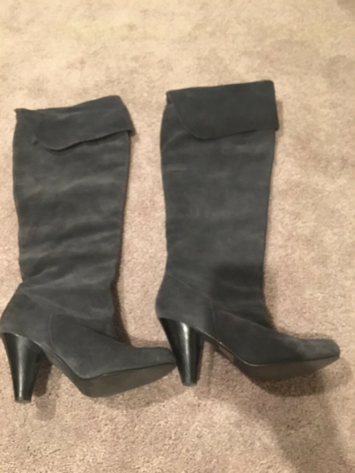 Grey suede knee high Victorias Secret boots size 9