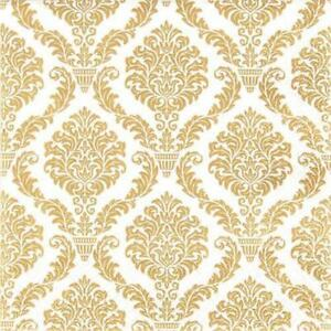 Details Zu 20 Servietten Elegant Gold Muster Gold Goldene Hochzeit Jubiläum Ornamente