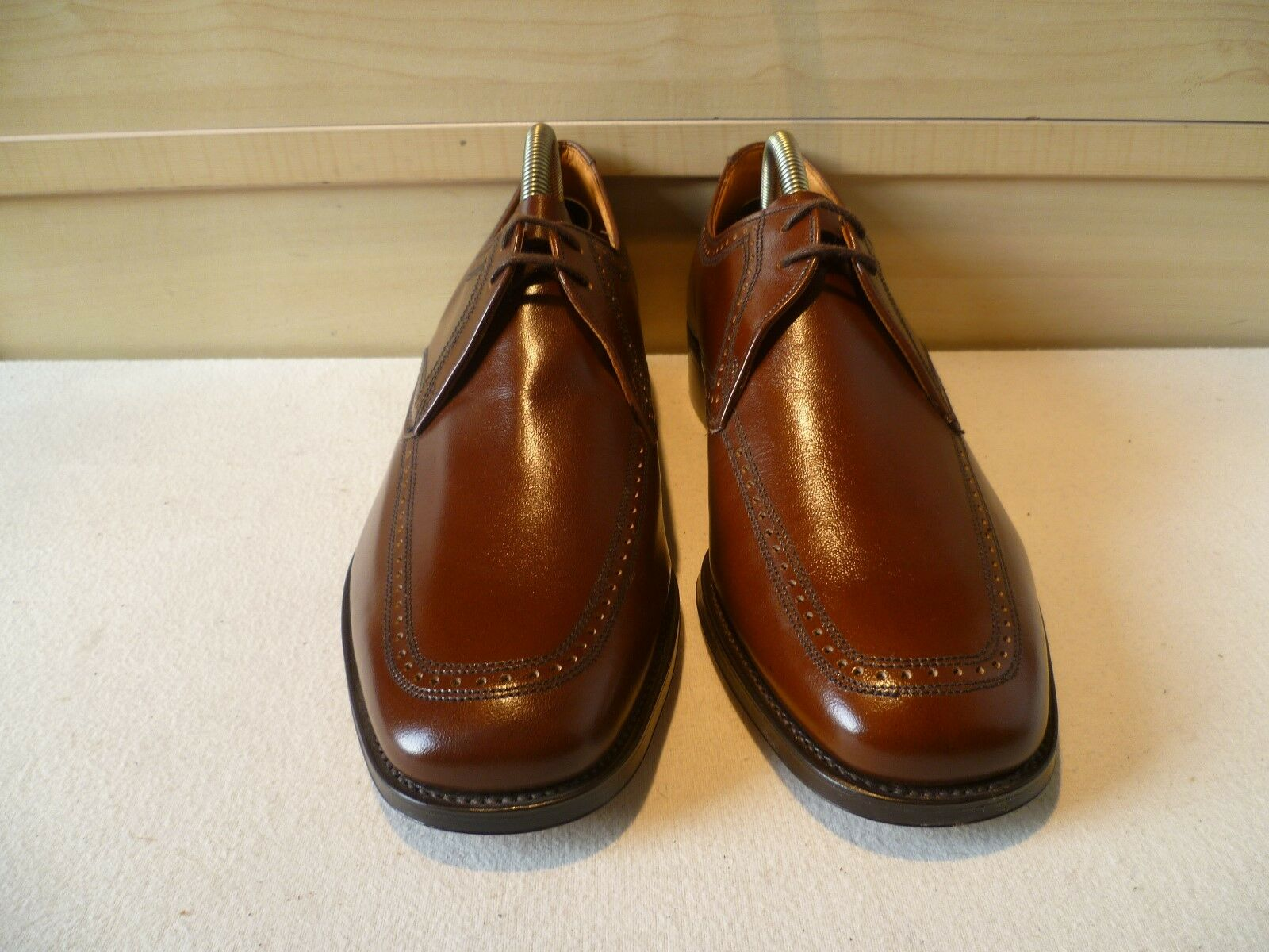 New David Scott vtg full leather derby UK 7 lace 41 English Goodyear welt lace 7 up fefd03